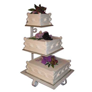 square cascading wedding cake stands 3 tier square cake display presentation stand 21 quot h 20358