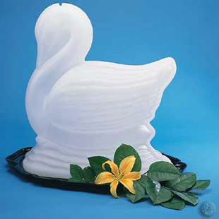 Swan Ice Sculpture Mold One Time Use Buy Swan Ice