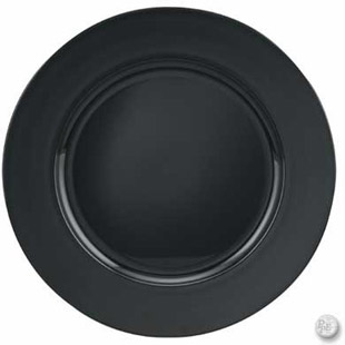 Black Charger Plate 13 Quot Round Acrylic Buy Black