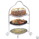 DISPLAY STAND, 3 TIER, SILVERPLATE