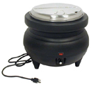 ELECTRIC SOUP KETTLE, SLOTTED HINGED LID