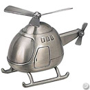 HELICOPTER BANK, PEWTERPLATE W/ SATIN FINISH