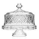 CAKE STAND, CRYSTAL