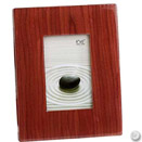 WALNUT FINISH PICTURE FRAME, 8