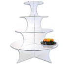 DISPLAY STANDS, 5 TIER, ROUND, ACRYLIC