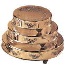CAKE STANDS, ROUND, FLORAL DESIGN, GOLDPLATE