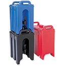 INSULATED BEVERAGE DISPENSERS, POLYETHYLENE - 2.5 GALLONS, 45 CUPS