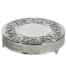 CAKE STAND, BAROQUE DESIGN, NICKELPLATED