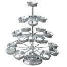 CUPCAKE TREE, 12 CUP, NICKELPLATED