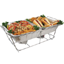 FOIL PANS & LIDS, FULL SIZE WIRE STAND, DISPOSABLE