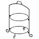 DISPLAY STAND, 2 TIER, WROUGHT IRON