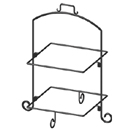 DISPLAY STAND, 2 TIER, BLACK WROUGHT IRON
