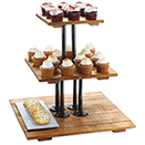 DISPLAY STAND, 3 TIER, RECLAIMED WOOD