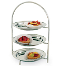 DISPLAY STAND WITH TRAYS,  18/10 STAINLESS STEEL
