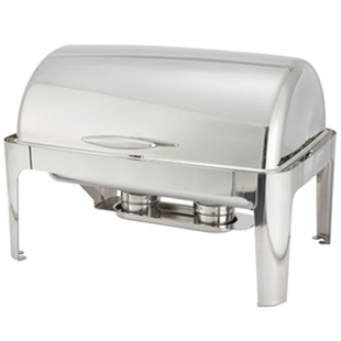 Madison Full Size Rectangular Roll Top Chafer Stainless