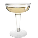 CHAMPAGNE GLASS, 2 PIECE, CLEAR, DISPOSABLE PLASTIC, PKG/400