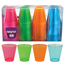 SHOT GLASS, NEON COLORS,  DISPOSABLE PLASTIC, PKG/600