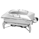 RENTANGULAR 8 QT. CHAFER, HINGED GLASS LID