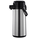 AIRPOT, PUSH BUTTON, STAINLESS BODY & LINE - 2.5 LITER (84 OZ.),  6.8