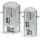 NEW YORK<SUP>®</SUP> COFFEE URNS, 18/8 STAINLESS WITH BRASS ACCENTS