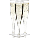 CHAMPAGNE FLUTE, 1 PC., DISPOSABLE, CLEAR, PKG/60