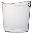 ICE BUCKET, OVAL, 1 GALLON, CLEAR DISPOSABLE PLASTIC , PKG/6