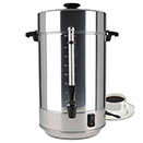 COFFEE MAKER, COMMERCIAL GRADE, POLISHED ALUMINUM