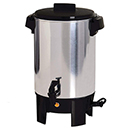 COFFEE MAKER, POLISHED ALUMINUM