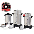 COFFEE MAKERS, POLISHED ALUMINUM