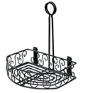 CONDIMENT CADDY, FLAT BACK, BLACK WIRE