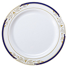 DINNERWARE, PLATES, SIGNATURE BLUE, DISPOSABLE PLASTIC