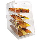 DISPLAY CASE WITH FRONT AND REAR DOORS, 4 TRAY, ACRYLIC