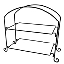 DISPLAY STAND, 2 TIER, BLACK IRON STAND
