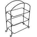 DISPLAY STAND, 3 TIER, BLACK IRON STAND