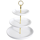 DISPLAY STAND WITH COUPE SERVING PLATE, 3 TIER
