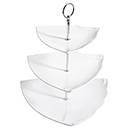 DISPLAY STAND WITH TRIANGULAR SERVING TRAYS, 3 TIER