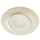 DINNERWARE, SCALLOPED EDGE,  BONE WHITE, DISPOSABLE PLASTIC