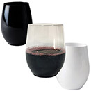 STEMLESS WINE GLASSES, DISPOSABLE PLASTIC