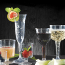 DRINKWARE, STEMWARE, CLEAR DISPOSABLE PLASTIC