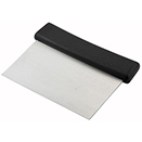 DOUGH SCRAPER, PLASTIC HANDLE, STAINLESS BLADE