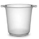 ICE BUCKET, 1 GALLON,  FROSTED CLEAR, DISPOSABLE PLASTIC, PKG/6