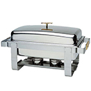 CHAFER, 8 QT, STAINLESS WITH GOLD ACCENTS, GRANDEUR