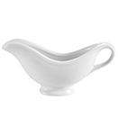 SAUCE BOATS, WHITE PORCELAIN