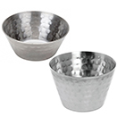 SAUCE CUPS, HAMMERED FINISH, STAINLESS