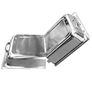 DOME CHAFER COVER,  HINGED LID, FULL SIZE, STAINLESS STEEL