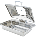 IDOL™ INDUCTION RECTANGULAR CHAFERS, HINGED LID, STAINLESS