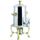 LION COFFEE URNS, NON-INSULATED, STAINLESS WITH GOLD TRIM