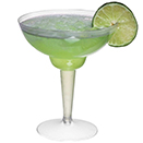 MARGARITA GLASS, 2 PIECE, DISPOSABLE PLASTIC, PKG/120