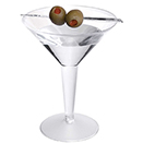MARTINI GLASS, 2 PC., CLEAR, DISPOSABLE PLASTIC, PKG/120
