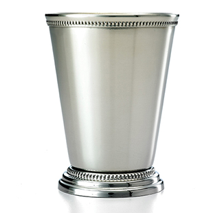 12 Oz Stainless Steel Mint Julep Cup With Beaded Edges